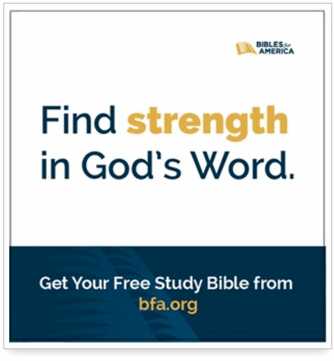 Bibles For America ad