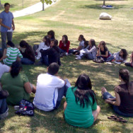 Young people's outing at Pan Pacific Park